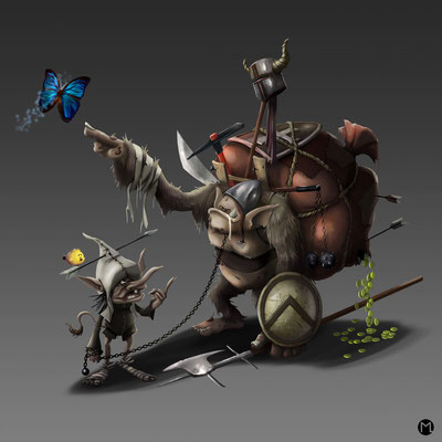 Concept Art - Character Design - Kobolde