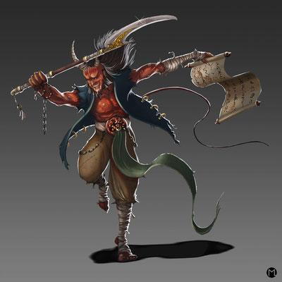 Concept Art - Character Design - Beelzebub - Teufel
