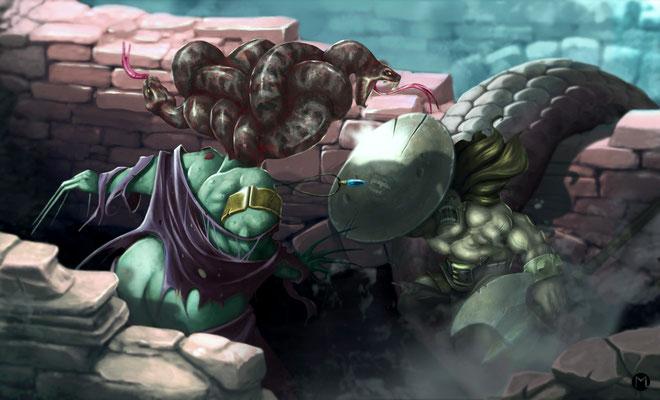 Artwork- Illustration - Perseus and Medusa