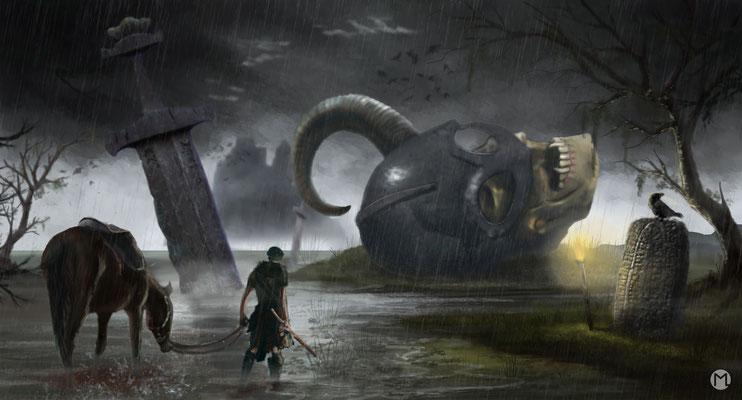 Artwork - Illustration - Krieg der Götter