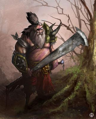 Concept Art - Character Design - Veteran Warrior - Alter Krieger