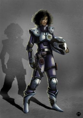 Concept Art - Character Design - Polizistin
