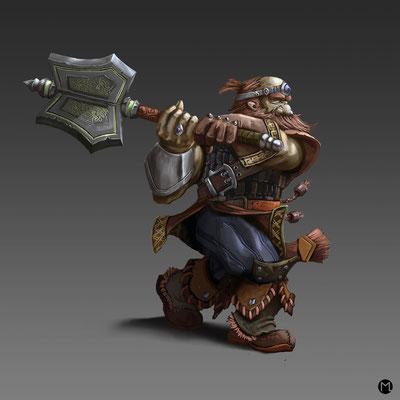 Concept Art - Character Design - Dwarf Warrior - Zwergenkrieger