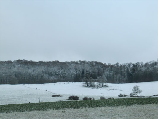 Unterwegs - während der Fahrt - Schnee