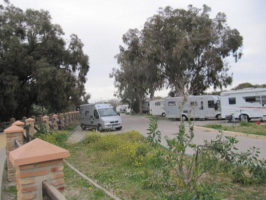 unser Stellplatz in Rota/Punta Candor