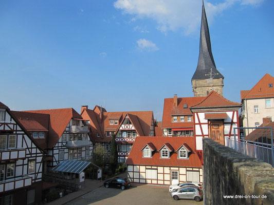 Blick auf die Altstadt und Stadtmauer