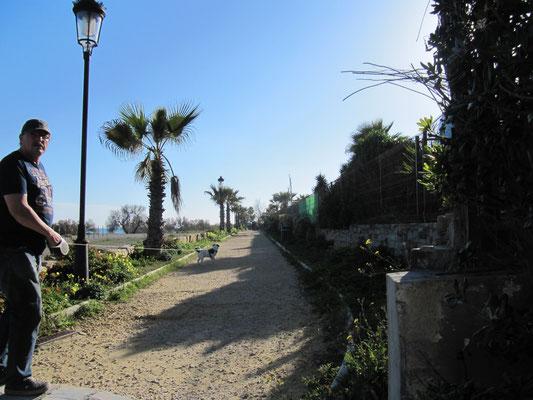 und zur Strandpromenade