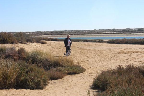 Spaziergang an der Lagune