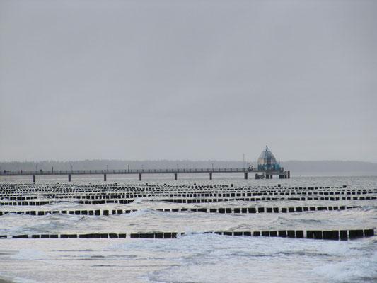 Blick auf die Seebrücke Zingst