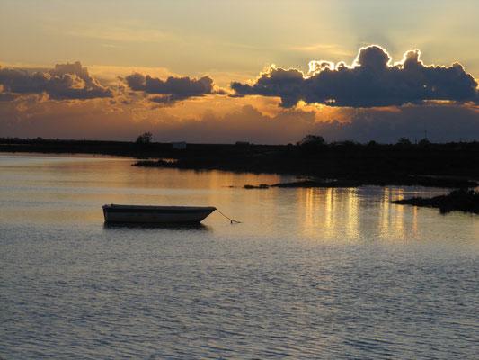 Sonnenuntergang an der Lagune
