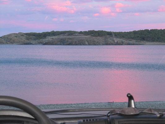 und nochmal... rosa gefärbter Himmel