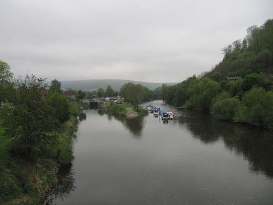 Blick von der Hängebrücke