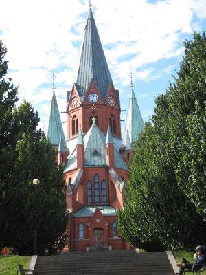 Sankt Petri Kirche in rotem Backstein von 1905