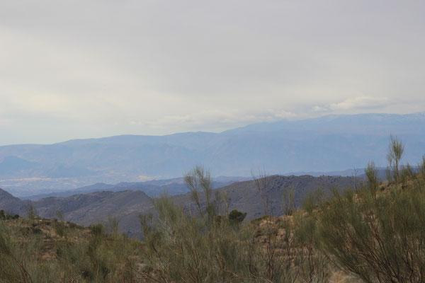 schöne Fernblicke bis zur Sierra Nevada