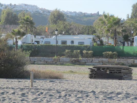 Blick auf dem CP Bellavista mit eigenem Ausgang an den Strand