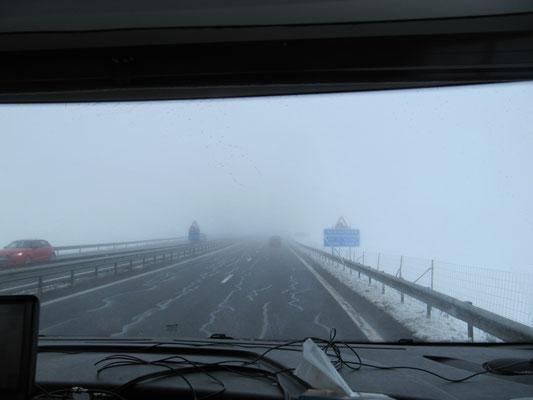A 75 im Nebel
