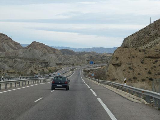 auf der A 92 Richtung Granada
