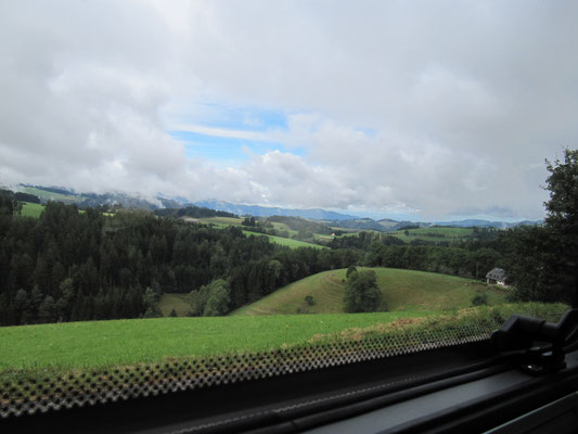 Unser Blick aus dem Womo-Fenster bei unserer Mittagspause