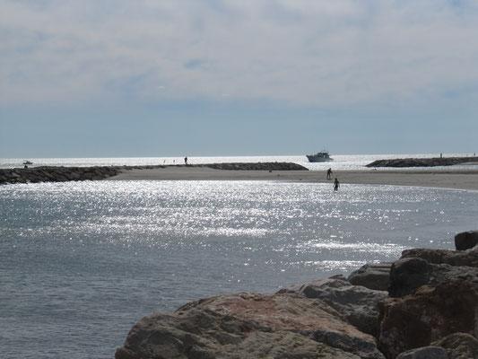Die Küste bei Saintes-Maries-de-la-Mer
