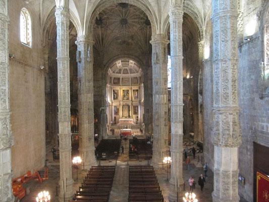 Blick in die Kathedrale von oben
