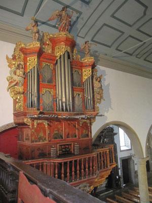 Barockorgel auf der Empore 1715/16
