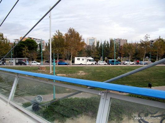 Hier sieht man unseren Parkplatz