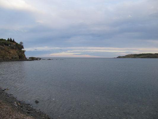 und der Blick auf die Bucht