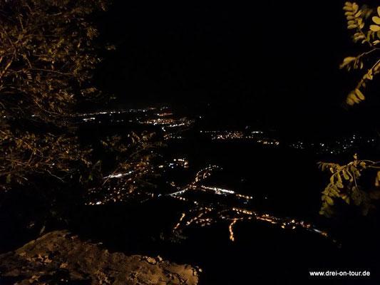 Aussicht im Dunkeln - beeindruckend