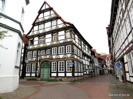 Das Bürgerhus in der Kupferschmiedestraße ließ die Ratsherrenfamilie Hellenstedt 1560 errichten.
