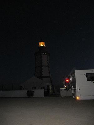 und der Leuchtturm am Abend