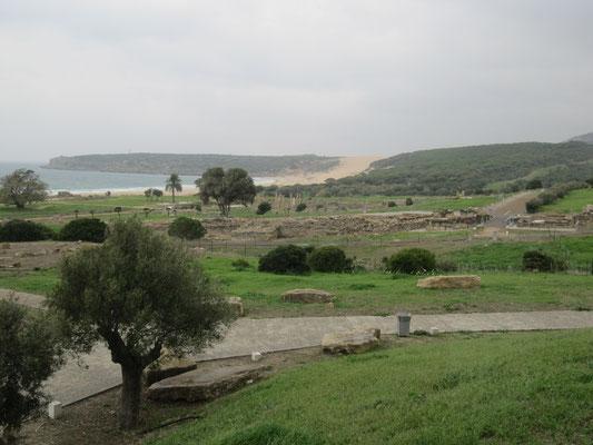 Blick auf die Anlage und den angrenzenden Strand