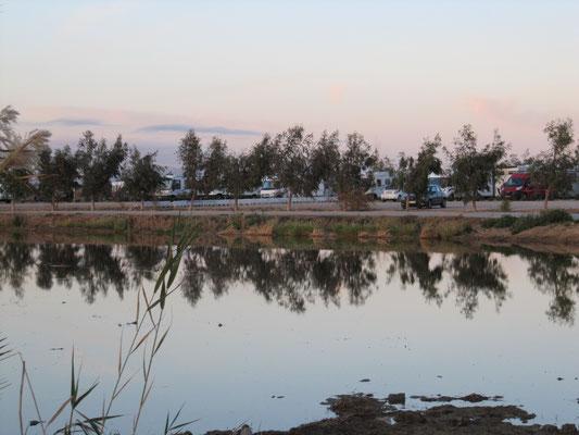 Wohnmobilstellplatz im Ebro-Delta