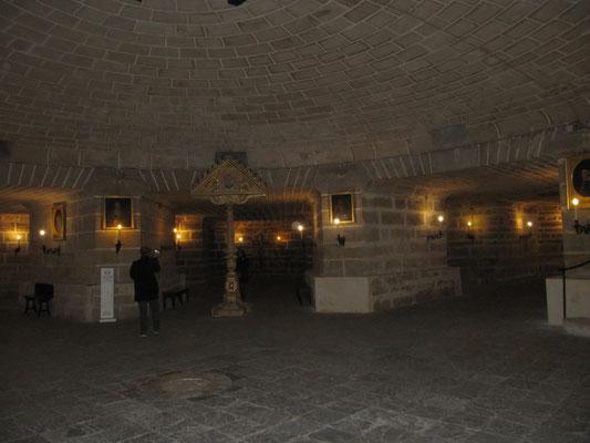 Krypta-Gewölbe unter dem Meeresspiegel
