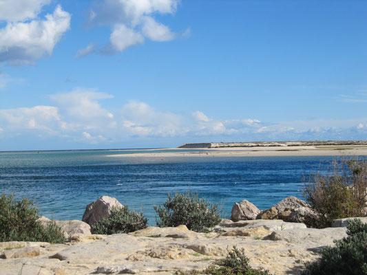 Lagune - das Meer ist dann hinter der Lagune