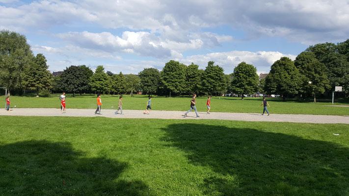 Fußball zocken im Böckingpark