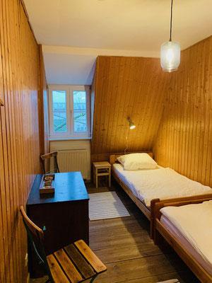 Das Holzzimmer.