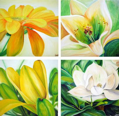 Blumen - 4er Set 50x50 cm - nicht mehr zu haben