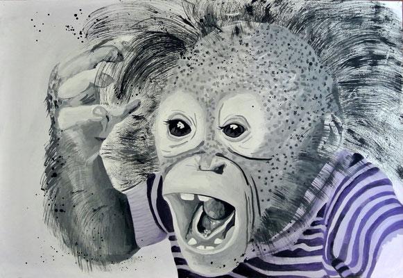 crazy monkey - 60x40 cm - nicht zu haben