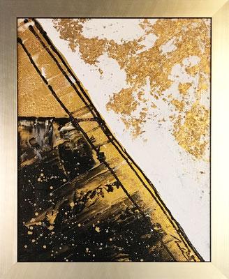 ABSTRAKTES IN GOLD 2 - 50 x 70 cm - 2019