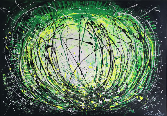 grüne Explosion - 140 x 100 cm - verkauft