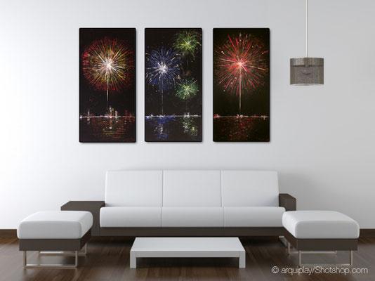 Fireworks Set A, Teil 1-3 - 50 x 100 cm