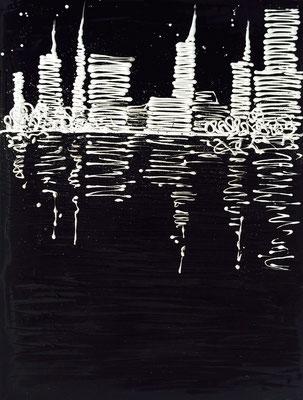 skyline black - 60 x 80 cm