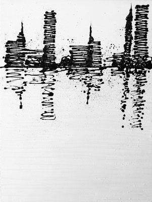 skyline white - 60 x 80 cm - verkauft