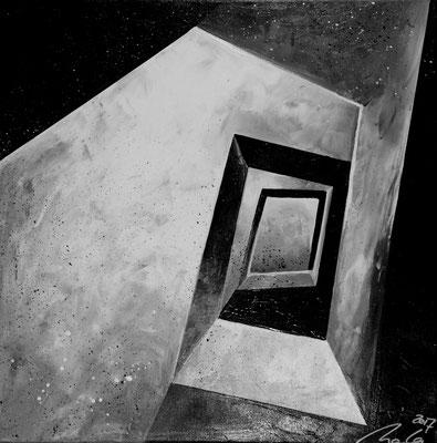 Weg nach oben Teil 7 - 60 x 60 cm - Ausstellung