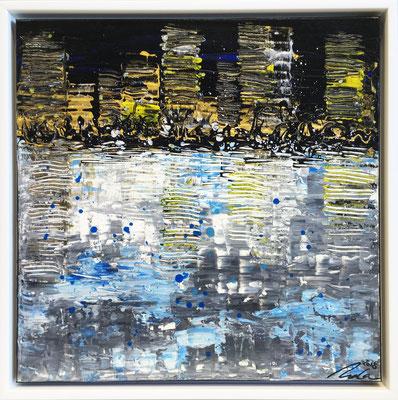skyline gold/schwarz Teil 2 - 50 x 50 cm - verkauft