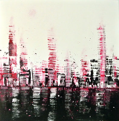 skyline on day - 100 x 100 cm - Ausstellung