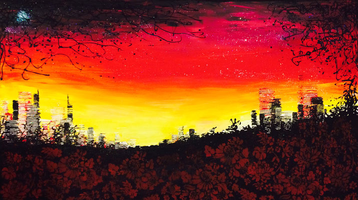 skyline on the hill - 140 x 80 cm  - vergriffen