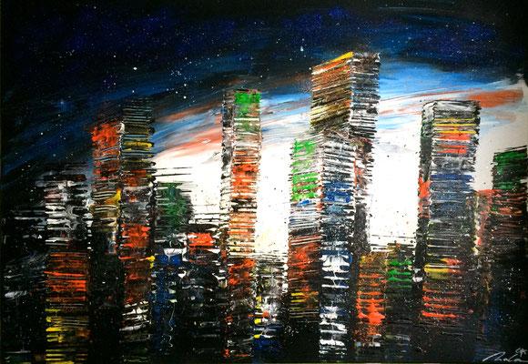 skyline fiktiv - 100 x 70 cm