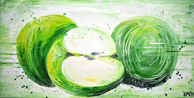 Äpfel - 100x60 cm - verkauft