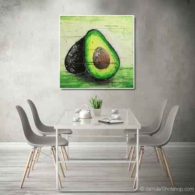 Avokado - 80 x 80 cm